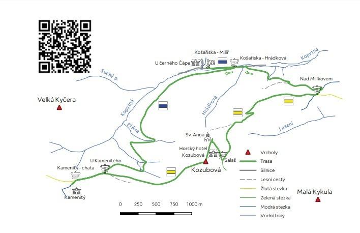 Turistické trasy v Beskydech