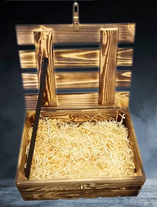 Dřevěná dárková bedýnka